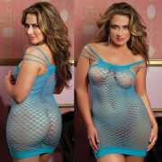 Откровенное Сетка - Платье Seven`til Midnight - XL, голубое...