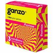 Презервативы Ganzo Extase №3 c точечной и ребристой поверхно...