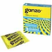 Презервативы Ganzo Ribs №3 с согревающей смазкой...