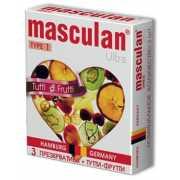 Презервативы: Жёлтые презервативы Masculan Ultra Tutti-Frutt...