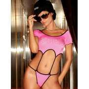 Бикини и комплекты: Розовый комплект: топ с пажами и трусики...