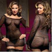 БОЛЬШИЕ размеры: Прозрачное платьице увеличенного размера с ...