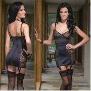 Сорочки, беби-долл: Платье с леопардовыми вставками...