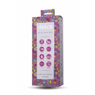 Классические: Розовый мини-вибратор Dolce Jaden - 12,5 см.