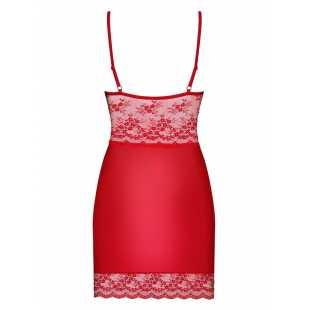 Сорочки, беби-долл: Облегающая сорочка Lovica с изысканным цветочным узором кружева