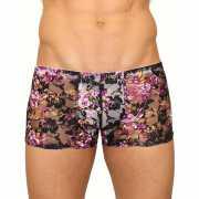 Мужское белье: Кружевные мужские трусы-хипсы с цветочным узо...