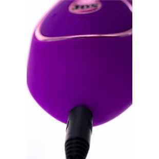 Hi-tech: Фиолетовый вибратор с вакуумной стимуляцией клитора JUM - 21 см.