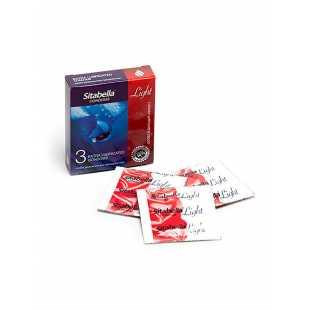 Презервативы Sitabella Light с возбуждающим эффектом особо увлажненные - 3 шт
