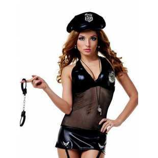 Костюм Сексуального Полицейского Le Frivole – черный, S/M