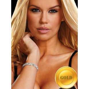 Браслет из кристаллов Ann Devine - Stretch Tennis Bracelet – золотой