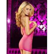Облегающее сексапильное платье в сетку Hustler Lingerie – ро...