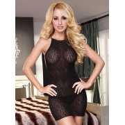 Мини-платье с открытой спиной Hustler Lingerie – черный...