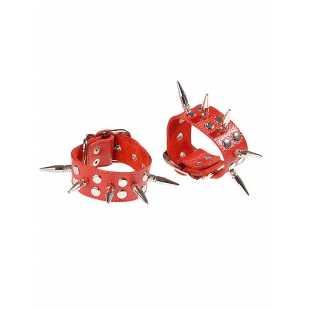 Наручники Sitabella с большими шипами – красный