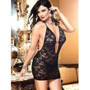 Черное кружевное мини-платье Criminal Minds - Queen Size...