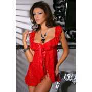Красная кружевная сорочка и стринги Caprice Eva - L/XL...