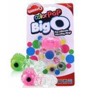 Прозрачное эрекционное кольцо ColorPop Big O с цветным вибро...