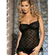 Очаровательная сорочка Caprice Romana – черный, S/M...