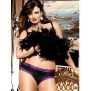 Полупрозрачные черные шортики Love Angels - Diva Size...
