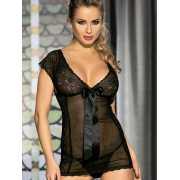 Очаровательная сорочка Caprice Eloisa – черный, S/M...