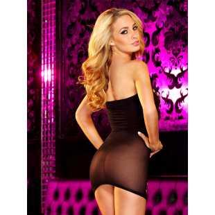 Облегающее сексапильное платье в сетку Hustler Lingerie – черный