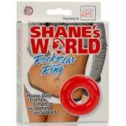 Эрекционное кольцо Shane's World Rock Star Ring – красный...