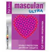 Презервативы с двойной защитой Masculan Ultra 2 - 3 шт....