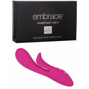 Вибромассажер Embrace Sweetheart Wand со стимуляцией клитора – розовый