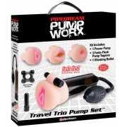 Помпа с тремя насадками и вибрацией Pump Worx Travel Trio...