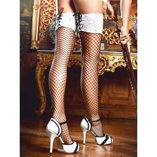 Чулки Five Star French Maid высокие в сетку – черные