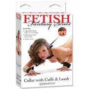 Набор для бондажа Collar with Cuffs and Leash