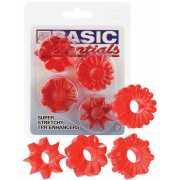 Комплект из 4-х колец Basic Essentials Super Stretchy TPR En...