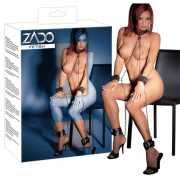 Набор для бондажа из натуральной кожи Zado All-over - черный...