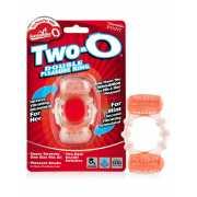 Эрекционное кольцо Screaming O - Quickie Two O с двойной сти...