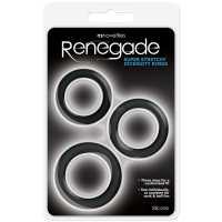 Набор из 3-х эрекционных колец Renegade Diversity Rings – че...