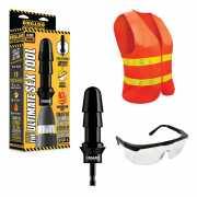 Комплект для секс-дрели Drilldo: бит-адаптер, очки, жилет - ...