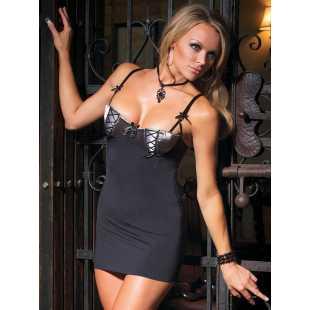 Стильное черное платье с поддерживающим лифом на косточках Coquette – M