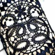 Синие кружевные манжеты ручной работы Dolce Piccante Tentazi...