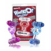 Эрекционное кольцо Screaming O - Woo Hoo с двумя вибростимул...