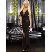 Черное вечернее платье в пол с открытой спиной Hustler Linge...