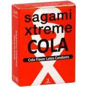 Презервативы Sagami Xtreme СOLA с ароматом колы -3 шт....