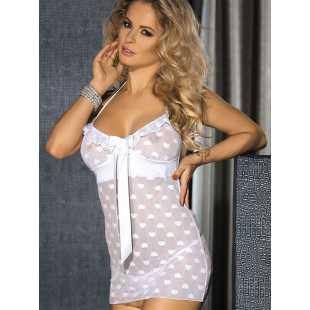 Романтическая сорочка Caprice Gina – белый, L/XL