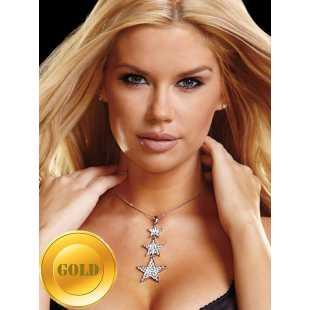 Украшение на шею Ann Devine - Rockstar Necklace со звездочками – золотой
