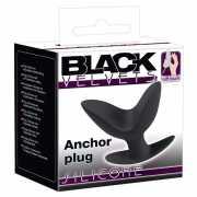Раскрывающаяся анальная пробка Black Velvets – черный...