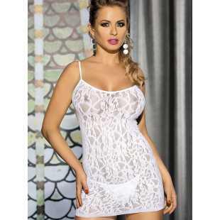 Сексуальная сорочка Caprice Tina – белый, S/M