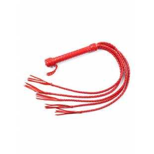 Многохвостая плеть Sitabella плетеная – красный