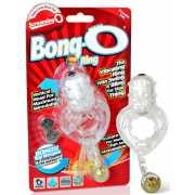 Виброкольцо Screaming O - Bong O с золотистым шариком – проз...