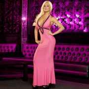 Вечернее розовое платье в пол от Hustler...