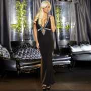 Вечернее черное платье в пол от Hustler...
