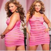 Платье увеличенного размера в полоску...