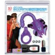 Клиторальный стимулятор-скорпион с эрекционным кольцом и виб...
